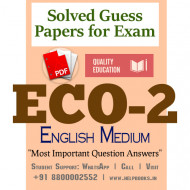 ECO2 IGNOU Solved Sample Papers/Most Important Questions Answers for Exam-English Medium