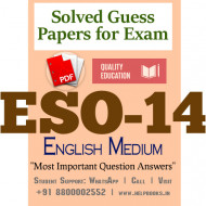 ESO14 IGNOU Solved Sample Papers/Most Important Questions Answers for Exam-English Medium