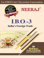 IBO3, India's Foreign Trade (English Medium), IGNOU Master of Commerce (MCOM) Neeraj Publications | Guide for IBO-3 for December 2021 Exams with Sample Papers
