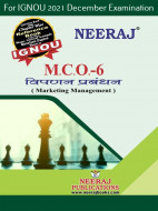 MCO6, Marketing Management (Hindi Medium), IGNOU Master of Commerce (MCOM) Neeraj Publications | Guide for MCO-6 for December 2021 Exams with Sample Papers