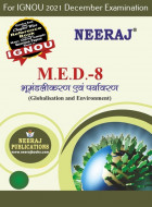 MED8, Globalisation and Environment (Hindi Medium), IGNOU Master of Arts (Political Science) (MPS) Neeraj Publications | Guide for MED-8 for December 2021 Exams with Sample Papers