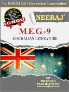 MEG9, Australian Literature (English Medium), IGNOU Master of Arts (English)(MEG) Neeraj Publications | Guide for MEG-9 for December 2021 Exams with Sample Papers