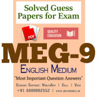 MEG9 IGNOU Solved Sample Papers/Most Important Questions Answers for Exam