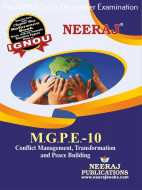 MGPE10, Conflict Management, Transformation & Peace Building (English Medium), IGNOU Master of Arts (Political Science) (MPS) Neeraj Publications | Guide for MGPE-10 for December 2021 Exams with Sample Papers