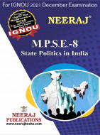 MPSE8, State Politics in India (English Medium), IGNOU Master of Arts (Political Science) (MPS) Neeraj Publications | Guide for MPSE-8 for December 2021 Exams with Sample Papers