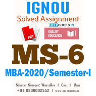 MS6-IGNOU MBA Solved Assignment 2020/Semester-I (Marketing for Managers)