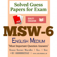 MSW6 IGNOU Solved Sample Papers/Most Important Questions Answers for Exam-English Medium