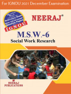 MSW6, Social Work Research (English Medium), IGNOU Master of Social Work (MSW) Neeraj Publications | Guide for MSW-6 for December 2021 Exams with Sample Papers