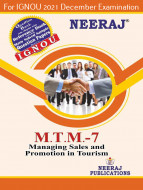 MTTM7, Managing Sales and Promotion in Tourism (English Medium), IGNOU Master of Tourism and Travel Management (MTTM) Neeraj Publications | Guide for MTTM-7 for December 2021 Exams with Sample Papers
