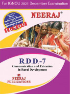 RDD7, Communication and Extension in Rural Development (English Medium), IGNOU Master of Arts (Rural Development) (MARD) Neeraj Publications | Guide for RDD-7 for December 2021 Exams with Sample Papers