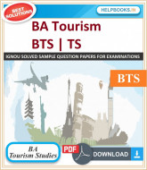 IGNOU Bachelor of Arts in Tourism Studies Assignments (BTS)-TS | e-Assignment Copy | 2019-2020