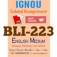 Download BLI223 IGNOU Solved Assignment 2020-2021 (English Medium)