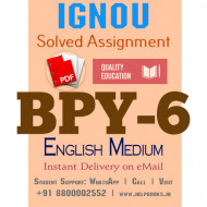 Download BPY6 IGNOU Solved Assignment 2020-2021 (English Medium)