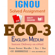 Download ECO3 IGNOU Solved Assignment 2020-2021 (English Medium)