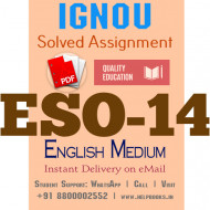 Download ESO14 IGNOU Solved Assignment 2020-2021 (English Medium)