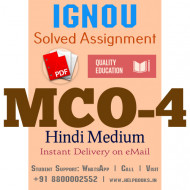 Download MCO4 IGNOU Solved Assignment 2020-2021 (Hindi Medium)