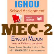Download MEC2 IGNOU Solved Assignment 2020-2021 (English Medium)