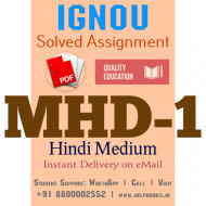 Download MHD1 IGNOU Solved Assignment 2020-2021