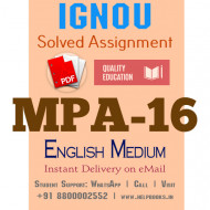 Download MPA16 IGNOU Solved Assignment 2020-2021 (English Medium)