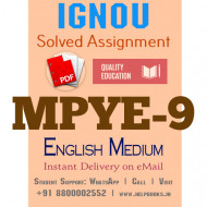 Download MPYE9 IGNOU Solved Assignment 2020-2021