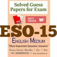 ESO15 IGNOU Solved Sample Papers/Most Important Questions Answers for Exam-English Medium