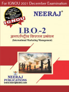 IBO2, International Marketing Management (Hindi Medium), IGNOU Master of Commerce (MCOM) Neeraj Publications | Guide for IBO-2 for December 2021 Exams with Sample Papers