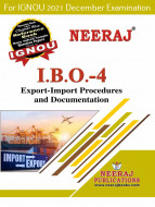 IBO4, Export Import Procedures and Documentation (English Medium), IGNOU Master of Commerce (MCOM) Neeraj Publications | Guide for IBO-4 for December 2021 Exams with Sample Papers