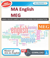 IGNOU MA English Solved Assignments-MEG | e-Assignment Copy | 2019-2020