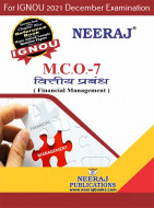 MCO7, Financial Managemen (Hindi Medium), IGNOU Master of Commerce (MCOM) Neeraj Publications | Guide for MCO-7 for December 2021 Exams with Sample Papers