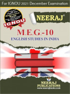 MEG10, English Studies in India (English Medium), IGNOU Master of Arts (English)(MEG) Neeraj Publications | Guide for MEG-10 for December 2021 Exams with Sample Papers