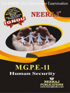 MGPE11, Human Security (English Medium), IGNOU Master of Arts (Political Science) (MPS) Neeraj Publications | Guide for MGPE-11 for December 2021 Exams with Sample Papers