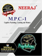 MPC1, Cognitive Psychology, Learning and Memory (English Medium), IGNOU Master of Arts (Psychology)(MAPC) Neeraj Publications | Guide for MPC-1 for December 2021 Exams with Sample Papers