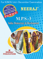 MPS3, India: Democracy and Development (English Medium), IGNOU Master of Arts (Political Science) (MPS) Neeraj Publications | Guide for MPS-3 for December 2021 Exams with Sample Papers