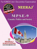 MPSE9, Canada: Politics and Society (English Medium), IGNOU Master of Arts (Political Science) (MPS) Neeraj Publications | Guide for MPSE-9 for December 2021 Exams with Sample Papers