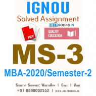 MS3-IGNOU MBA Solved Assignment 2020/Semester-II (Economic and Social Environment)