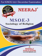 MSOE3, Sociology of Religion (English Medium), IGNOU Master of Arts (Sociology)(MSO) Neeraj Publications | Guide for MSOE-3 for December 2021 Exams with Sample Papers