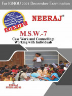 MSW7, Case work and Counselling: Working with Individuals (English Medium), IGNOU Master of Social Work (MSW) Neeraj Publications | Guide for MSW-7 for December 2021 Exams with Sample Papers