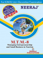 MTTM8, Managing Entrepreneurship and Small Business in Tourism (English Medium), IGNOU Master of Tourism and Travel Management (MTTM) Neeraj Publications | Guide for MTTM-8 for December 2021 Exams with Sample Papers