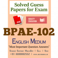 BPAE102 IGNOU Solved Sample Papers/Most Important Questions Answers for Exam-English Medium