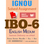 Download IBO6 IGNOU Solved Assignment 2020-2021 (English Medium)