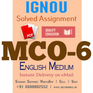 Download MCO6 IGNOU Solved Assignment 2020-2021 (English Medium)