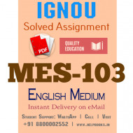 Download MES-103 IGNOU B.ed IGNOU Solved Assignment 2020-2021 (English Medium)
