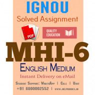 Download MHI6 IGNOU Solved Assignment 2020-2021 (English Medium)