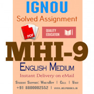 Download MHI9 IGNOU Solved Assignment 2020-2021 (English Medium)