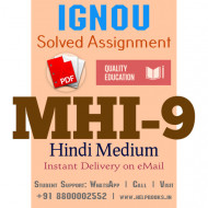 Download MHI9 IGNOU Solved Assignment 2020-2021 (Hindi Medium)