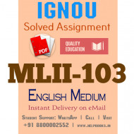 Download MLII103 IGNOU Solved Assignment 2020-2021 (English Medium)