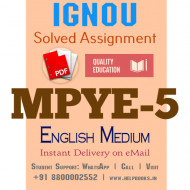 Download MPYE5 IGNOU Solved Assignment 2020-2021