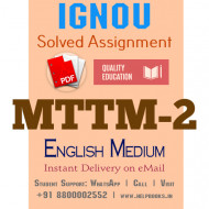 Download MTTM2 IGNOU Solved Assignment 2020-2021