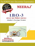 IBO3, India's Foreign Trade (Hindi Medium), IGNOU Master of Commerce (MCOM) Neeraj Publications | Guide for IBO-3 for December 2021 Exams with Sample Papers