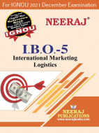 IBO5, International Marketing Logistics (English Medium), IGNOU Master of Commerce (MCOM) Neeraj Publications | Guide for IBO-5 for December 2021 Exams with Sample Papers